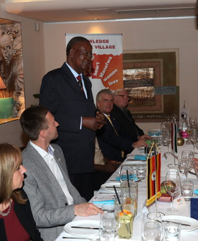 Dinner with Uganda's Minister of Tourism